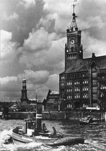 Zeitball im Hamburger Hafen